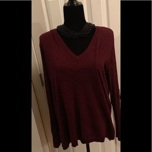 Apt 9 Burgundy Metallic Sweater